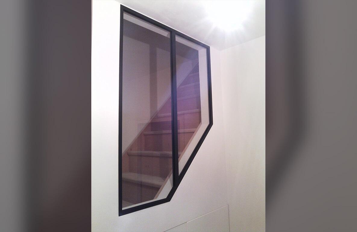 Carette Verrière sur mesure intérieur escalier 3
